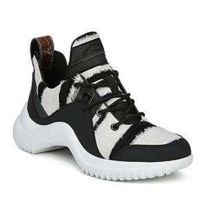 Sam Edelman Meena Low Top Black Ivory Sneakers - 6